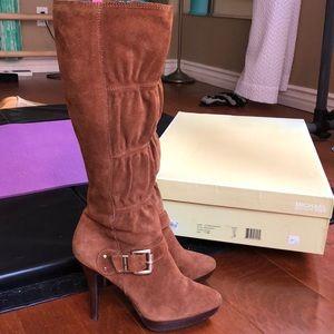 Michael Kors Camel Suede Boots 7 1/2M